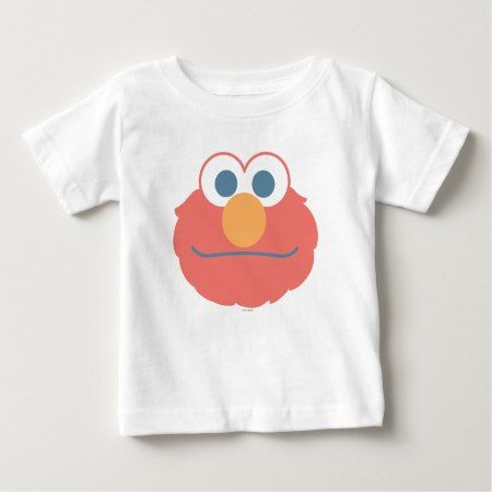 Baby Elmo Face Baby T-Shirt - click/tap to personalize and buy
