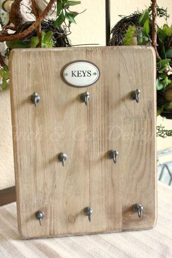 Farmhouse key holder by Finch & Co. Designs