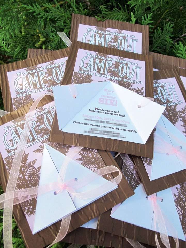 Camping birthday party invitations! See more party ideas at CatchMyParty.com!