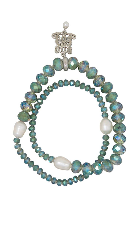 Dazzle Wrap Bracelet - Aqua #designerbracelet #designerjewellery #designerjewelry #jewellery #bracelet #Duchess #fashion #designerfashion