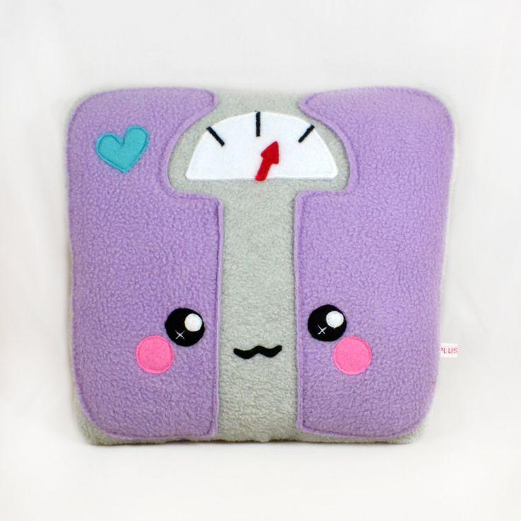 Bathroom scale plush toy / kawaii pillow / soft toy / cushion by Plusheez on Etsy