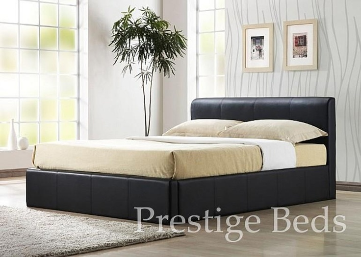 Kingsize Ottoman Storage Bed Brown Faux leather bedstead which opens easily  to reveal a large ottoman storage area - 38 Best Images About Leather Beds On Pinterest Ottoman Storage