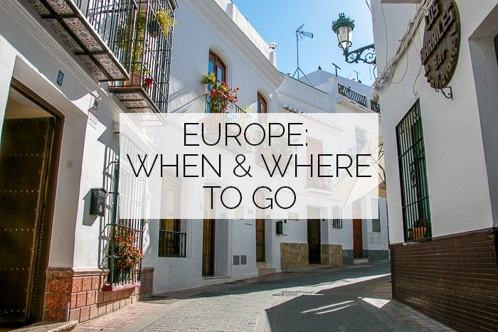 Europe: When & Where To Go - Factoring in weather, the amount of other tourists, and cost vs. fun,  this is an awesome European bucket list!