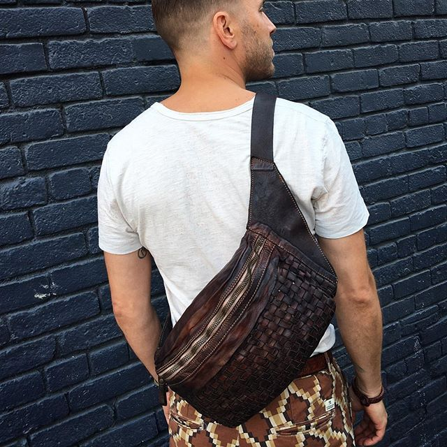 Fanny Packs Are Back?!?! Well maybe when super cool like this one, hand woven, vegetable tanned leather Italian hand made..... @west_bh #westbh #menwithclass #menwithstyle #fashionblogger #whatiwore #streetstyle #moda #beverlyhills #rodeodrive #mensfashion #handbag #backpack #brentonwood #malibu #pasadena #glendale #calabasas #santamonica #hollywood #weho #palmsprings @campomaggi_bags #fannypack #fashion #melrose #silverlake #abbotkinney #venicebeach #whatiworetoday #trend #fall