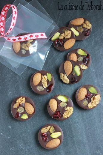 Les mendiants au chocolat noir - La cuisine de Déborah