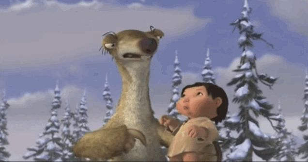 When he got into a poke war with the baby: | 23 Times Sid The Sloth Was The Absolute Best