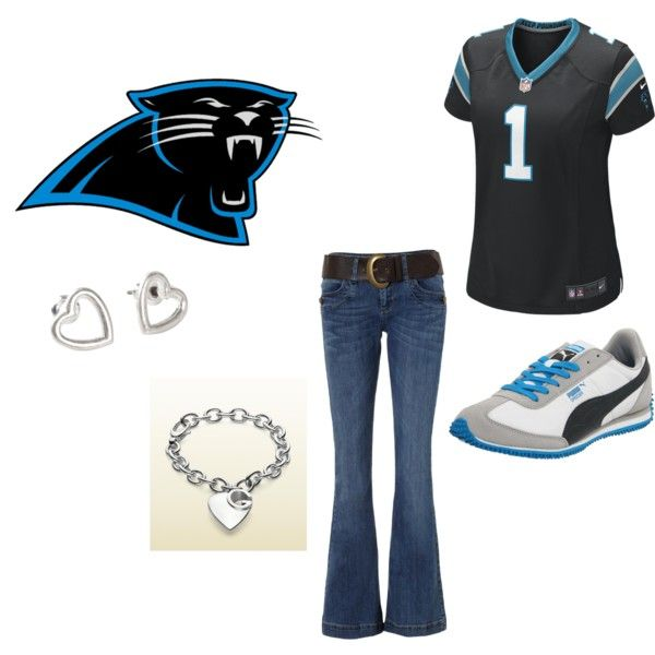 """Carolina Panther Football"" by audrey-niemeyer on Polyvore"