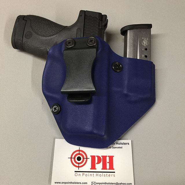 AITW Shield 9mm holster. Wrapped in Police blue. Order your custom holster today at www.onpointholsters.com.     #Regram via @onpointholsters)