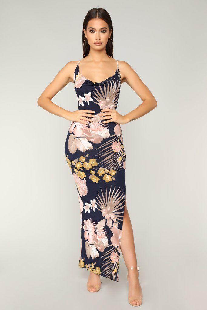 Floral Oasis Maxi Dress Navy Combo Maxi Dress Navy Fashion Fashion Nova Dress