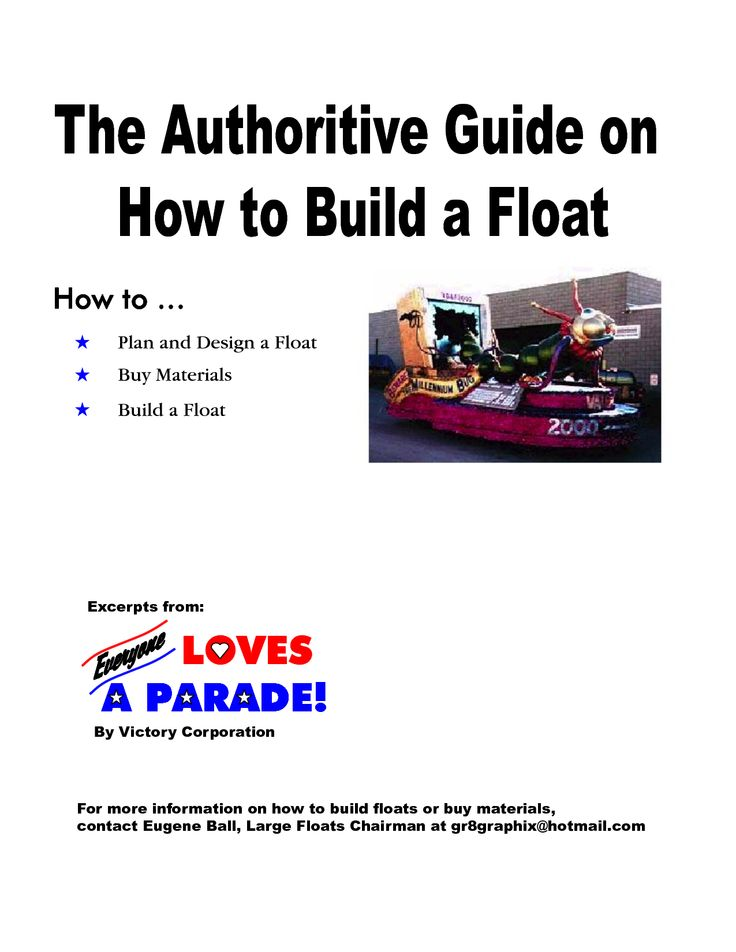 how to build a train parade float