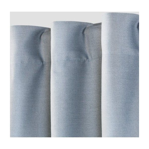 Colorblock Light Blocking Window Curtain ($25) ❤ liked on Polyvore featuring home, home decor, window treatments, curtains, blue stripe curtains, blue striped curtains, blue curtain panels, colorful curtains and blue valance