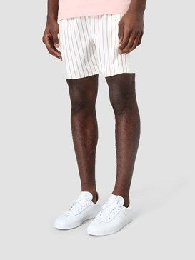 Daily Paper Satin Striped Shorts White Ss17B81