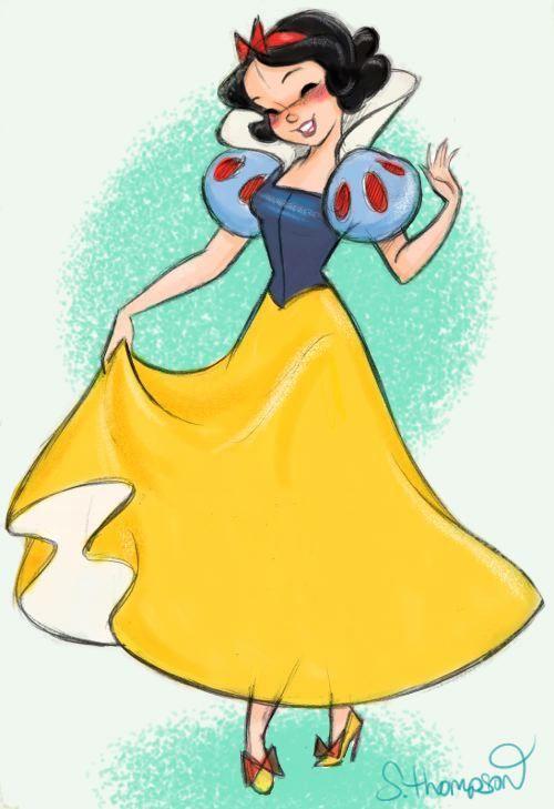"""stevethompson-art: """"Snow White - Color (C)Disney """""""