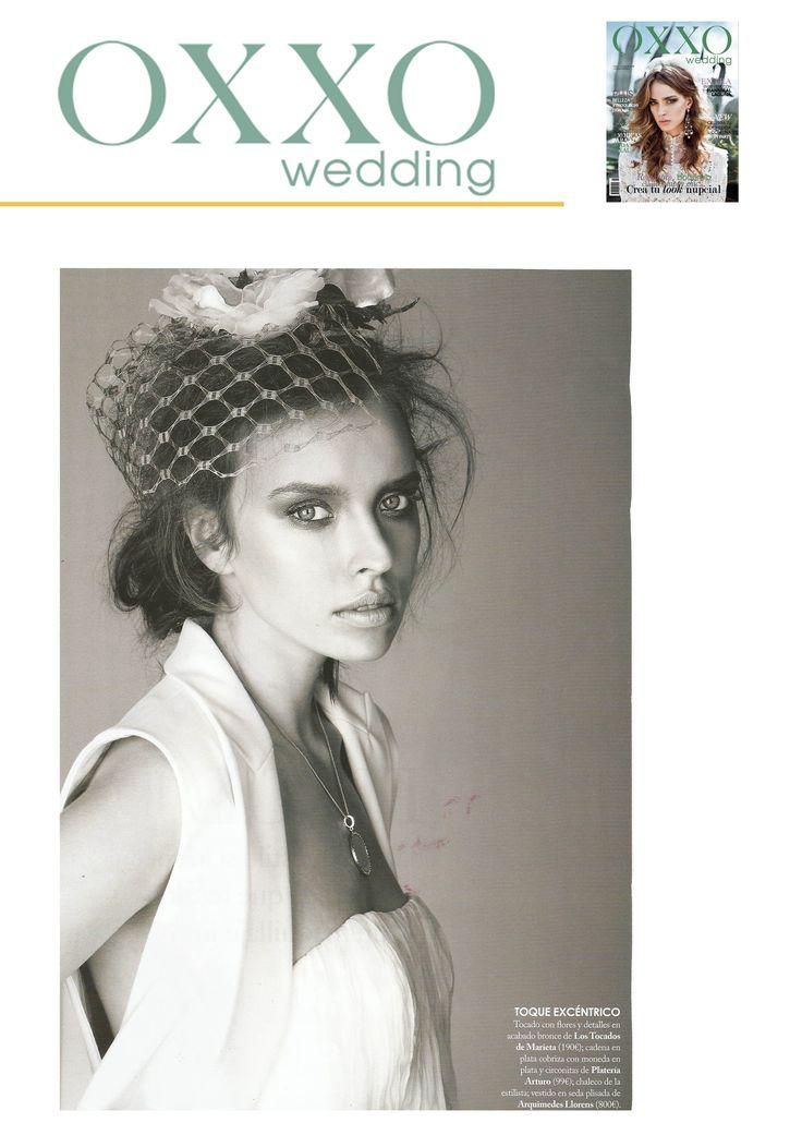 Los vestidos de novia de Arquimedes Llorens son una elección elegante, diferente y sofisticada para la revista Oxxo Wedding
