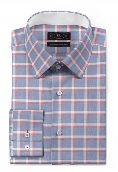 Blue checked 100% cotton Shirt: http://www.tailor4less.com/en-us/men/shirts/3128-blue-checked-100-cotton-shirt