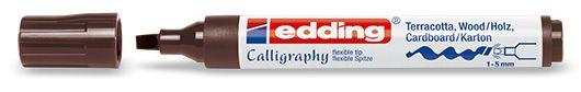 marcador edding 1455 calligraphy marker - marrón oscuro