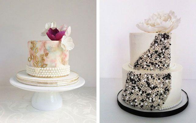 42 роскошных торта для свадьбы в гламурном стиле