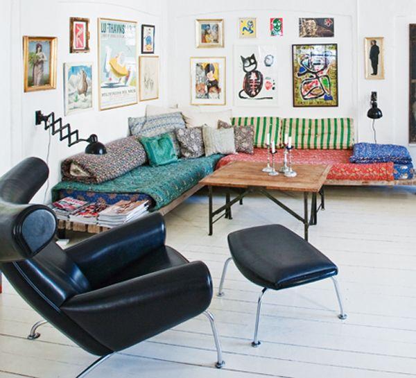 Az indusztriál-vintage maga - háztáji dizájn