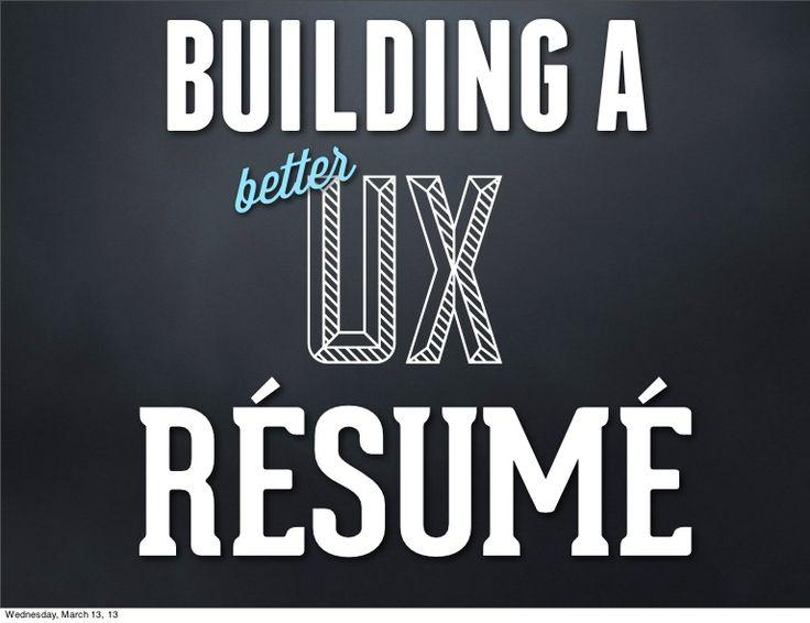 46 best UX images on Pinterest Info graphics, Entrepreneurship - user experience designer resume