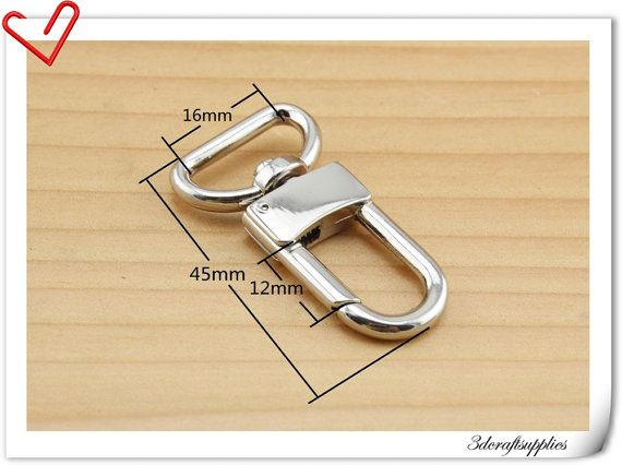 10 pieces 5/8 inch nickel swivel clasp swivel Hook for purse push gate hook P35