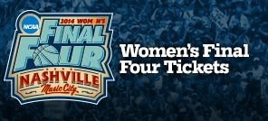 The Women's Final Four Championship is taking place right here in Nashville this year! Buy your tickets here.