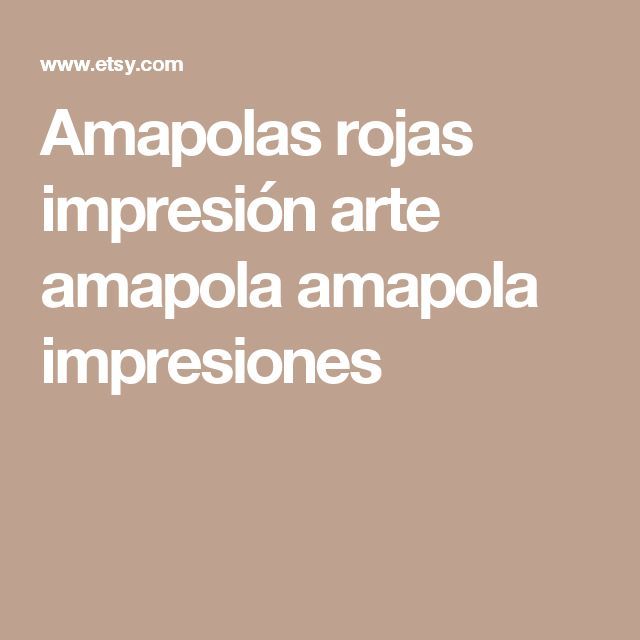 Amapolas rojas impresión arte amapola amapola impresiones