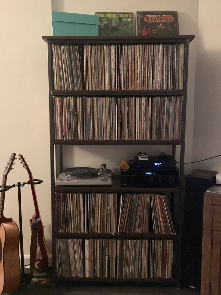 custom made record shelf by brooklyn reclamation