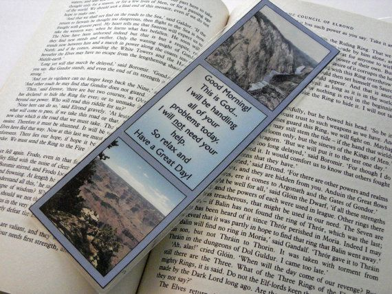 For 10% off entire shop - use Coupon Code PIN10 - 10 mil Laminated Bookmark  Good Morning.  This is God... by Balilu, $4.50