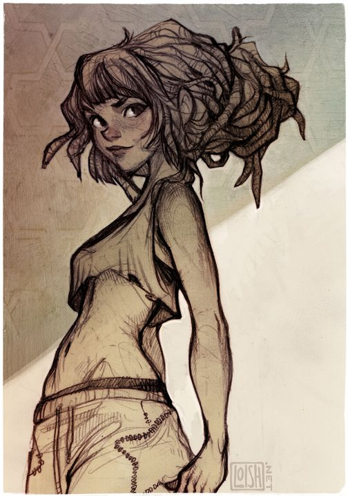 snickerdoodle by loish.deviantart.com ✤ || CHARACTER DESIGN REFERENCES | Find…                                                                                                                                                                                 Más