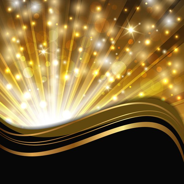Gold and black shining background vector
