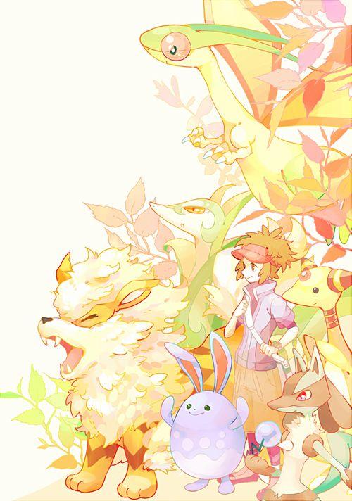 Arcanine, Serperior, Flygon, Azumarill, Ampharos, and Lucario (Pokémon)