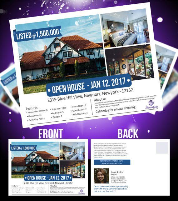 Real Estate Advertising Postcard  Editable in MS Word by Koreev