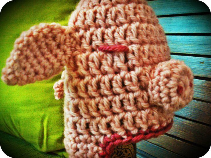 Pig Crochet Hat