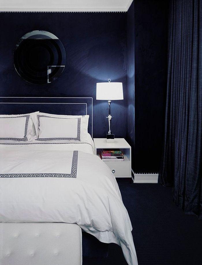 Вдохновение темные интерьеры_07Вдохновение: темные интерьеры | Home and Interiors, стильные детали, темный интерьер, настольная лампа, спальня @COVET LOUNGE