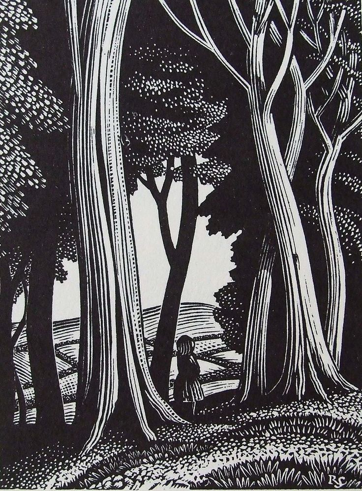 REYNOLDS STONE wood engraving. Title-page design for Ambush of Young Days by Alison Uttley. Faber & Faber. 1937