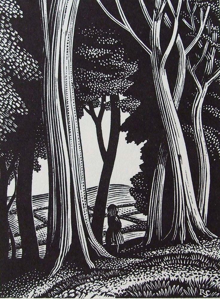 Title-page design for Ambush of Young Days by Alison Uttley. Faber & Faber. 1937 / Sublime traité au noir et blanc, vraiment inspirant !