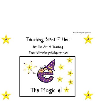 """I am teaching this unit this week at school. I have created a fun """"Magic E"""" Character, included a poem, worksheet, assessment, and Magic e book. It's a fun unit and it really helps your student remember the silent e rule! Check out my blog for pictures: theartofteachingut.blogspot.com"""