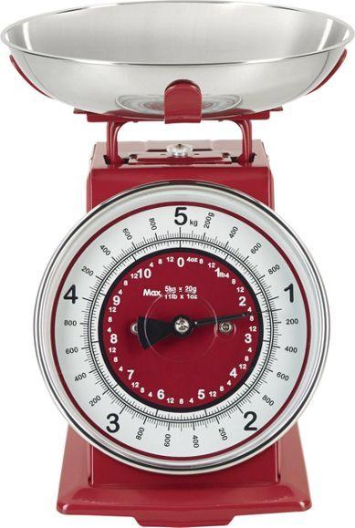 Küchenwaage aus Edelstahl in Rot – ein wenig Retro für Ihre Küche!