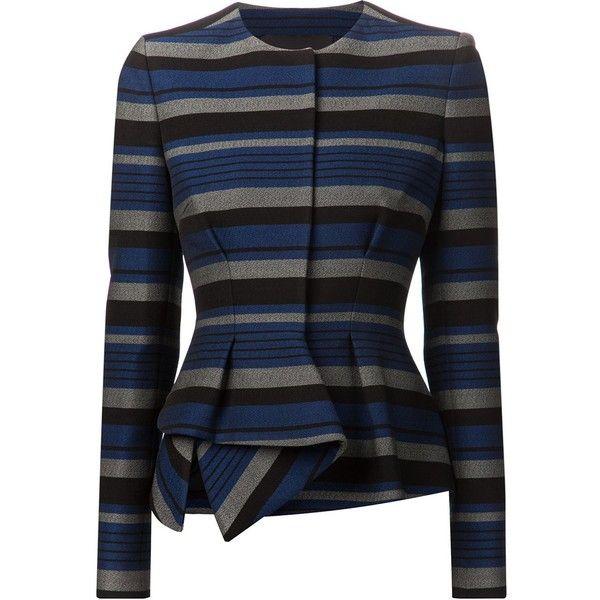 PROENZA SCHOULER striped peplum jacket (£1,791) found on Polyvore