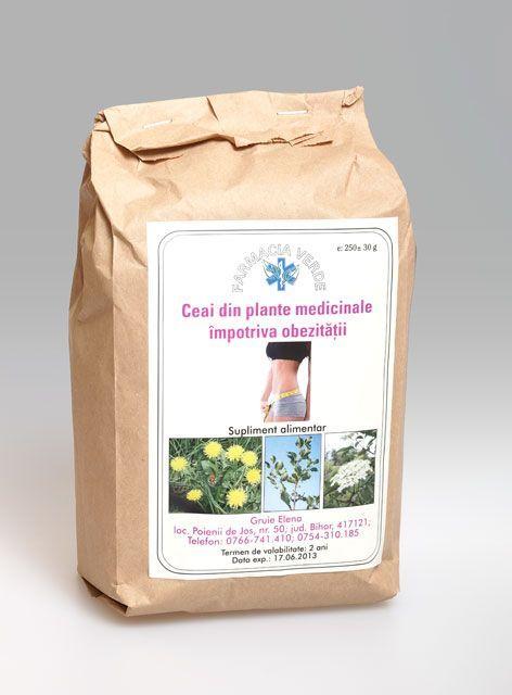 Ceai din plante medicinale impotriva obezitatii