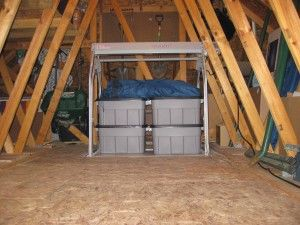 17 best images about storage ceiling on pinterest for Garage attic storage
