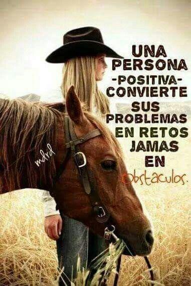 Una persona positiva...