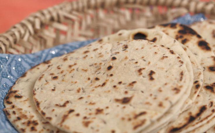 O Naan, nome original do prato, é feito com sementes de cominho