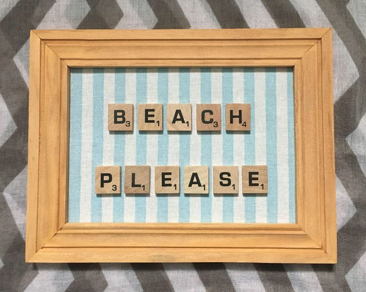 Beach Please - Letter Word Scrabble Tile Letters - Frame Display Wall Hanging - Coastal Decor - Blue - Beach Decor - Home Decor - Salty Air by SaltyAirInspirations on Etsy https://www.etsy.com/ca/listing/583893859/beach-please-letter-word-scrabble-tile