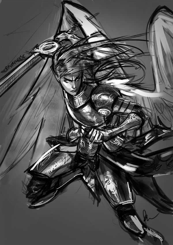 Sketching an Angel by TheBoyofCheese on DeviantArt