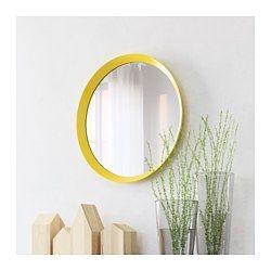 LANGESUND Mirror, yellow - 50 cm - IKEA