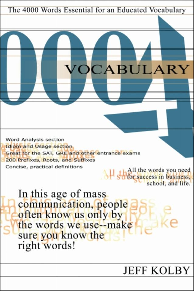 4000 Words for GRE Vocabulary