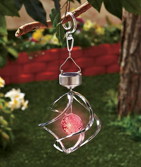 Solar Lighted Garden Spinner|The Lakeside Collection