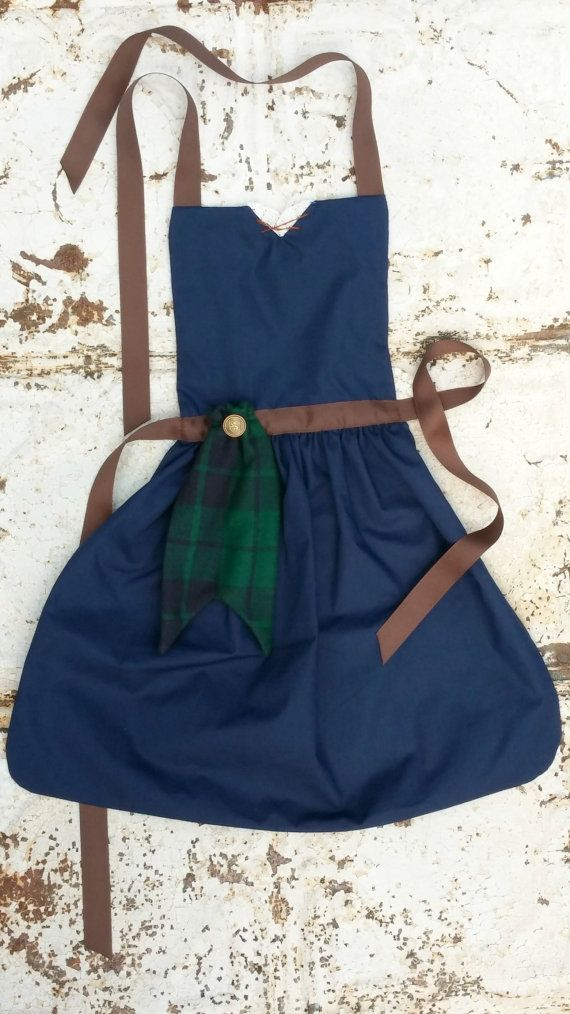 BRAVE Merida Disney Princess inspired Child Costume APRON. Fits sizes 12-24 mo 2t 3t 4 5 6 7 8 9 10, 11, 12 Toddlers and Girls Dress up Play on Etsy, $28.00