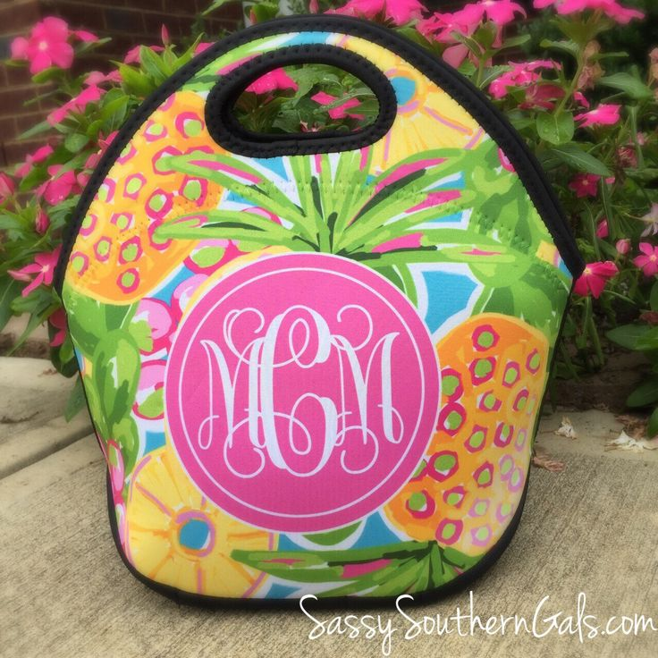 Lilly Pulitzer Inspired Lunch Box | Monogram Lunch Bag | Gift For Her by SassySouthernGals on Etsy https://www.etsy.com/listing/244479077/lilly-pulitzer-inspired-lunch-box